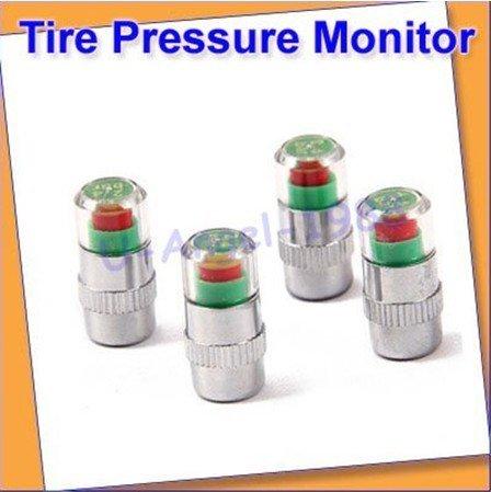 Free shipping!! 4pcs/set Tire Pressure Monitor Indicator Valve Stem Cap Sensor 3 Color Eye Alert