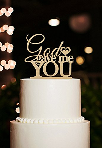 Newest God Gave Me You Rustic Wedding Cake Toppers Wedding Cake Stand//Custom Cake Topper Wedding Decoration Casamento(China (Mainland))