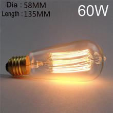Excellent Quality ST58 E27 60W Retro Edison Bulb AC 220V Incandescent Bulb(China (Mainland))