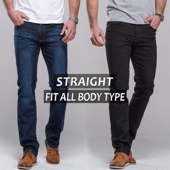 Мужские джинсы прямо подходят классические джинсы брюки знаменитый бренд брюки синий ...