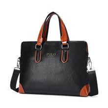 Famous Brand Men's PU Leather Luxury Briefcase New Men Large Handbag Messenger Bag sacoche homme cartera Aktentasche Laptop Bag