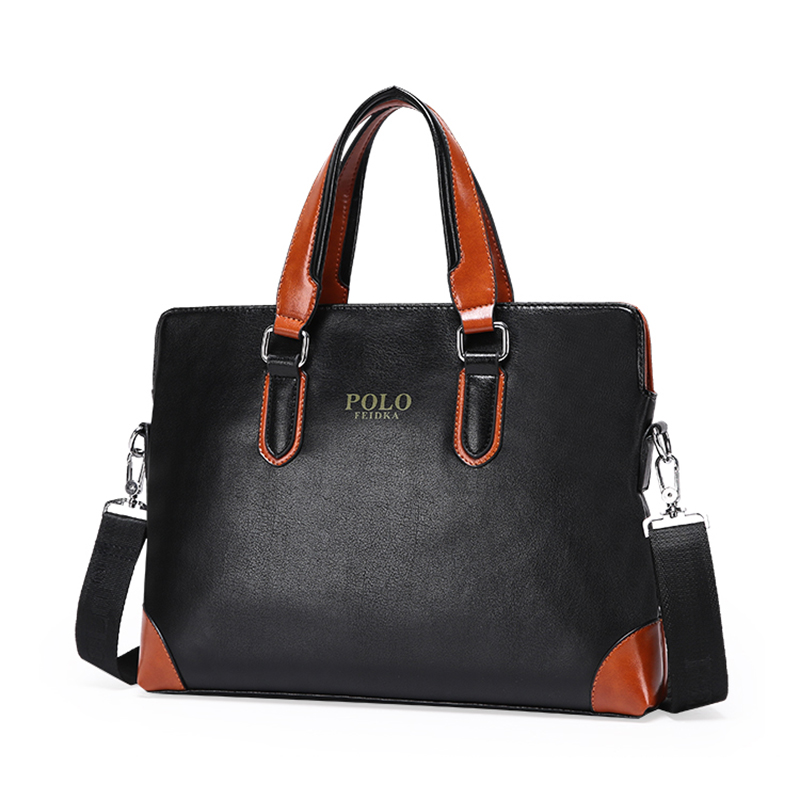 Famous Brand Men's PU Leather Luxury Briefcase New Men Large Handbag Messenger Bag sacoche homme cartera Aktentasche Laptop Bag(China (Mainland))