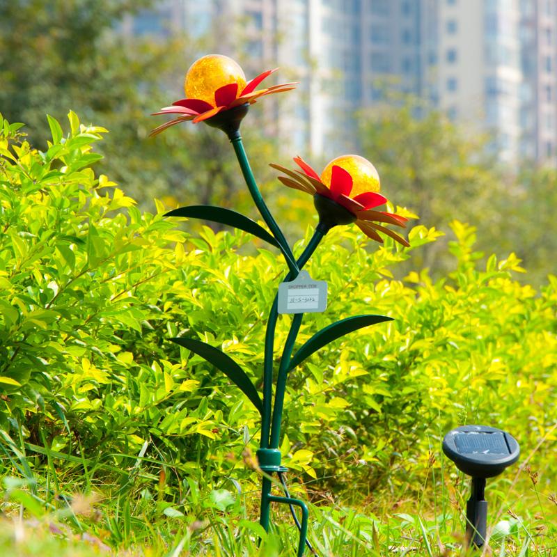 Achetez en gros panneau solaire fleurs en ligne des for Lumieres exterieures pour jardin