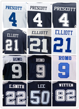 Men's 4 Dak Prescott 21 Ezekiel Elliott 9 Tony Romo 22 Emmitt Smith 50 Sean Lee 82 Jason Witten 88 Dez Bryant elite jerseys(China (Mainland))