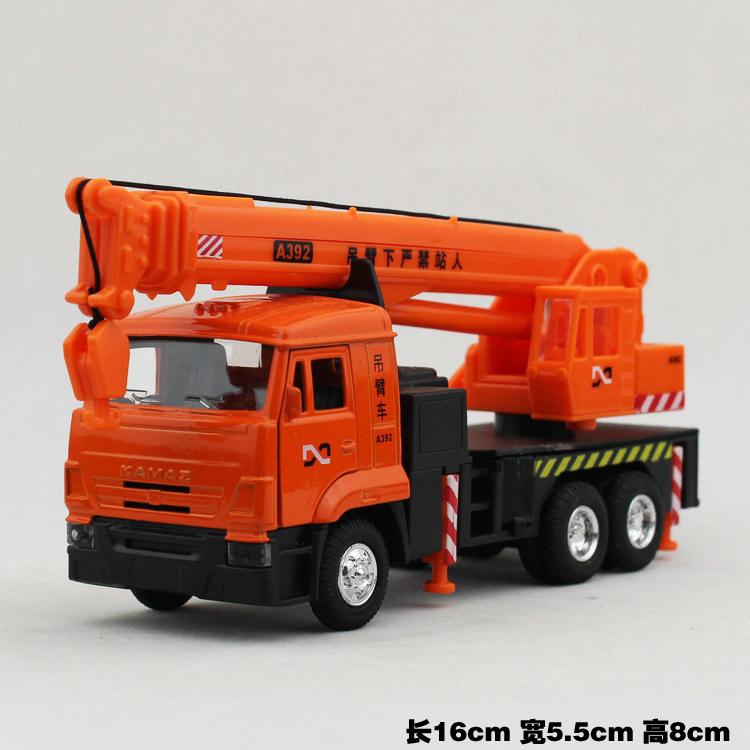 2016 new models of small car models orange crane model toys(China (Mainland))