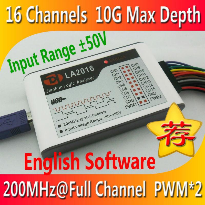 Kingst LA2016 USB Logic Analyzer 200M max sample rate,16Channels,10B samples, 2 PWM out(China (Mainland))