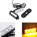 12V Car LED Strobe Lights Aluminum Automotive Warning Light Auto Manual Dual mode Flasher Lamp 3led