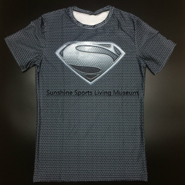 3d sports compression men t-shirts superman spider man/batman/ gym fitness t shirts fashion shirt
