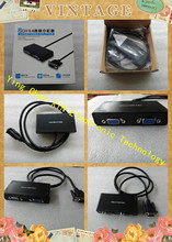 1 to 2 ports VGA video splitter duplicator 1-in-2-out 250MHz device Boots Video Signals 65m 1920*1440 Resolution