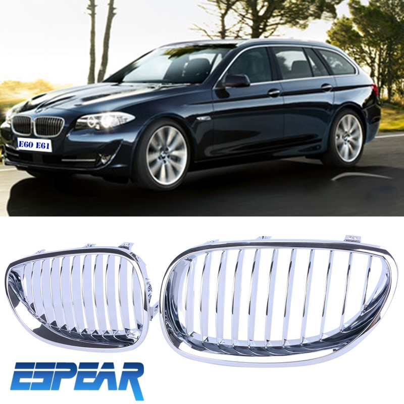 2015 NEW 1set Chrome Kidney Hood Front Grille Grill For BMW E60 E61 M5 5 Series 03-09 with Retail Package Bengear<br><br>Aliexpress
