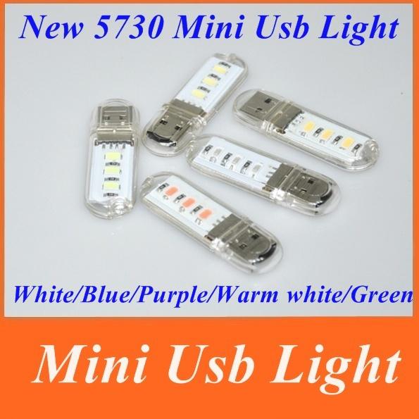 Mini Portable USB 3 LED SMD 5730 White/Blue/Purple/Warm white/Green led Light Night Lamp laptop Camping Reading - Shenzhen Eastshine Lighting store