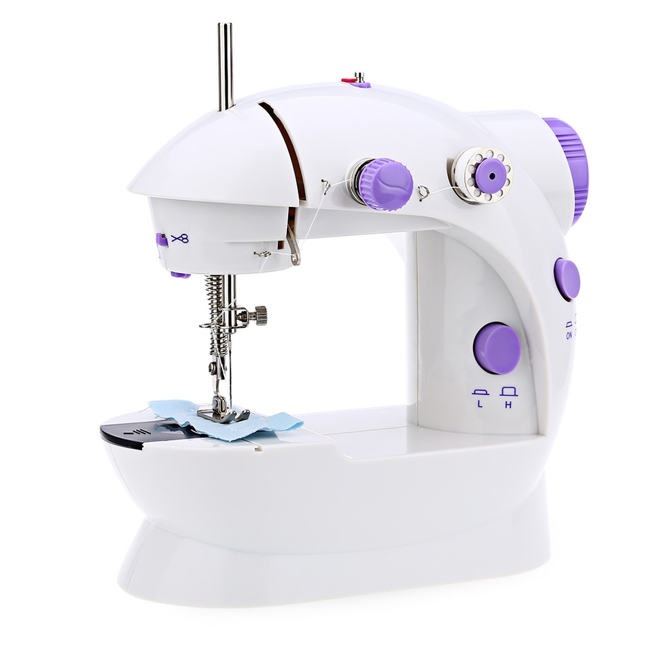 Mini Handheld Sewing Machines Dual Speed Double Thread Multifunction EU/US/UK Electric Automatic Tread Rewind Sewing Machine
