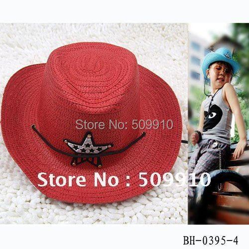 baby summer Straw hat kids five star sun cap baby cowboy hat children top hat jazz cap baby topee free shipping
