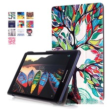 "Buy Lenovo Tab 2 A8 A8-50 Tab2 A8-50F A8-50LC 8"" Tablet Case Slim PU Leather Case Print Flip Protect Cover+Screen Protector+Pen for $4.89 in AliExpress store"