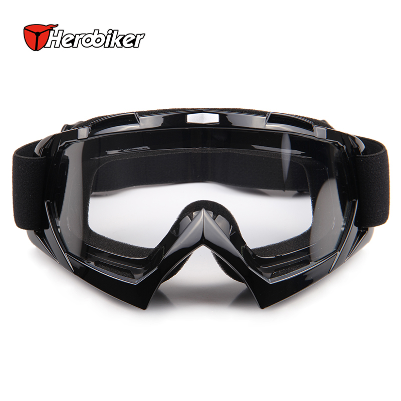 HEROBIKE Ski Snowboard Goggles Clear Lens Motorcycle Motocross Off-Road Dirt Bike Racing Glasses Outdoor Sports BMX DH Eyewear(China (Mainland))