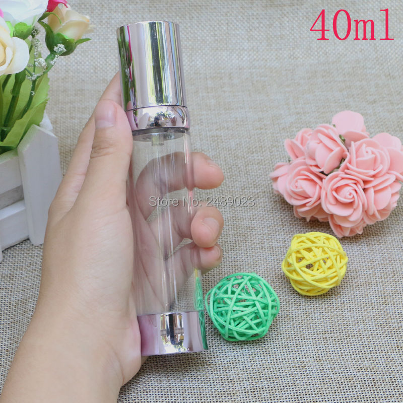 DIY Portable Purple Empty Makeup Containers Plastic Lotion Airless Bottles Sample Containers Refillable Bottle 2pcs/lot