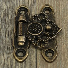 12pcs Iron Antique Brass Decorative Jewelry Gift Wooden Box Hasp Latch Hook With Screws 37x25mm In Stock(China (Mainland))