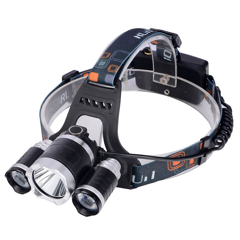 2016 New,T6Headlamp 6000 Lumens 3 x Cree XM-T6 +2R5 Lamp LED camping Headlamp Headlight with rechargeable battery & charger(China (Mainland))