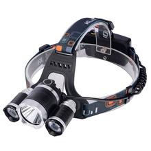 2016 новый, T6headlamp 6000 Lumens 3 x кри XM-T6 + 2R5 лампы из светодиодов кемпинг фары фара с аккумулятором и зарядное устройство
