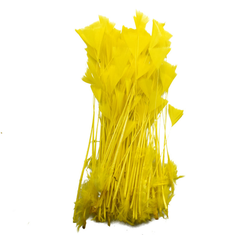 Brand FEATHER# 10pcs New Arrival Cocktail Feather Coq Feather yellow Chicken Feather .(China (Mainland))
