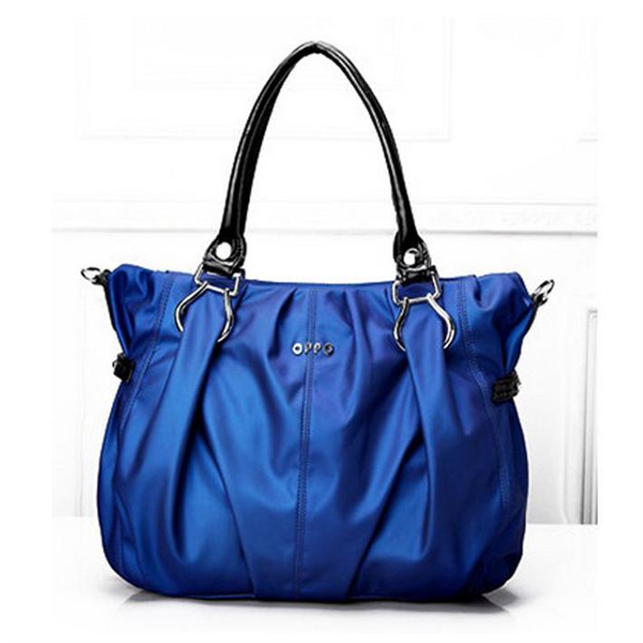 2015 brand women's handbag lady one shoulder pleated elegant tote all-match pu leather bags female - NOVOTOOL store