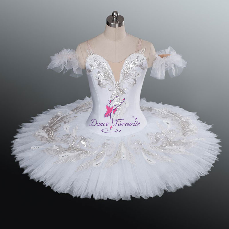 #White Swan Professional Classical Ballet tutu ballerina Dance Costumes YAGP competition platter tutus Girls Women BL1157 - Dancing House store