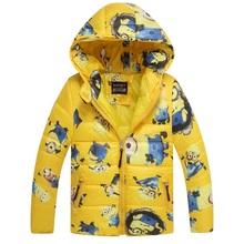 2015 HOT minions boys girls sweatshirt with fleece coat kids sport hoodies outerwear children jackets clothing autumn winter(China (Mainland))