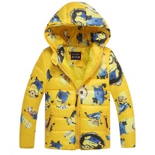 2015 HOT minions boys girls sweatshirt with fleece coat kids sport hoodies outerwear children jackets clothing autumn winter