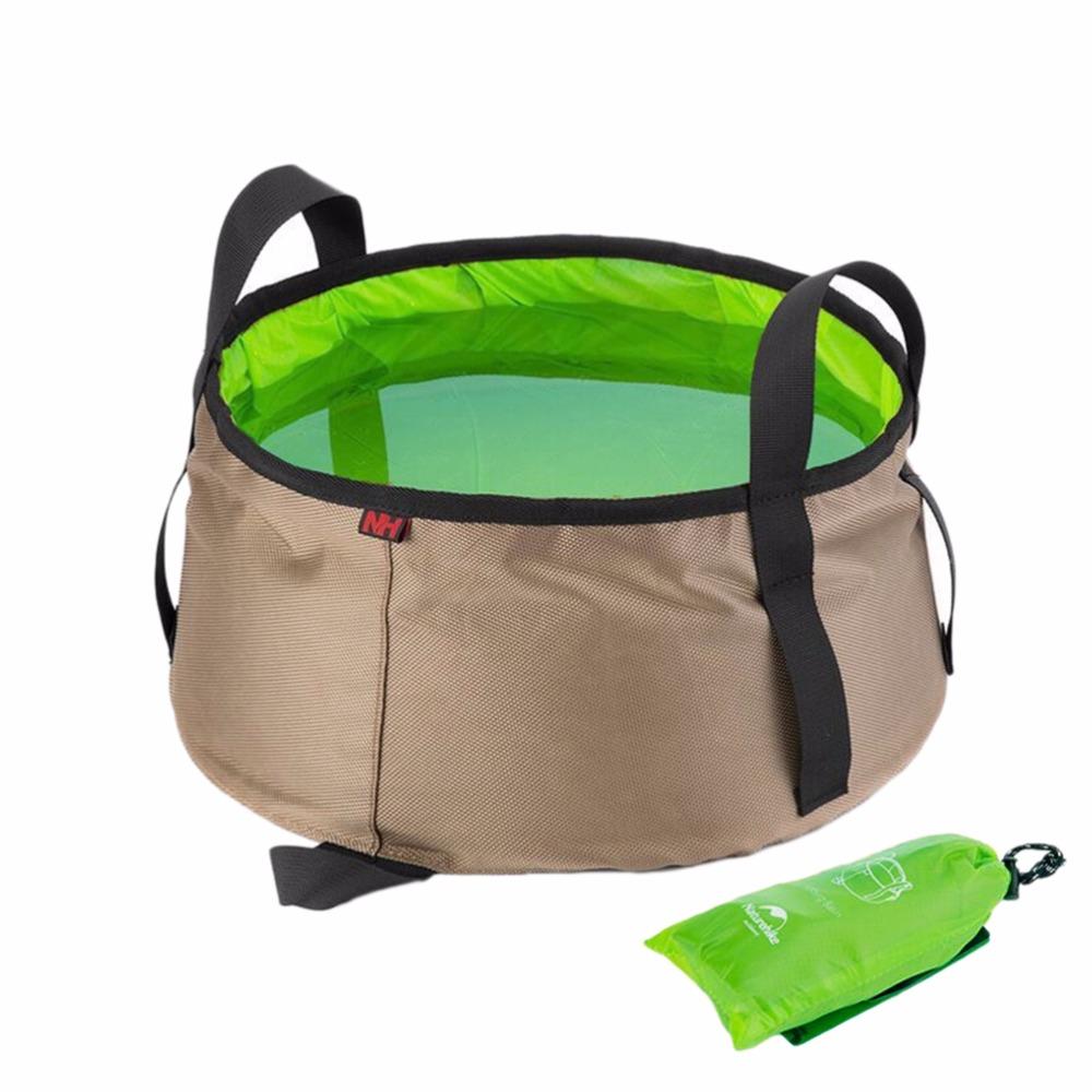 10L Portable Outdoor Round Folding Water Washbasin Camping Picnic Oxford Wash Bucket Bag Ultralight Wash Basin Wholesale(China (Mainland))