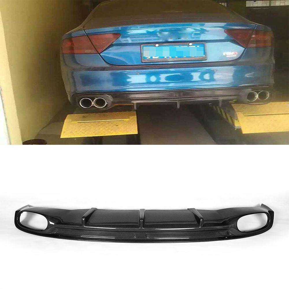 a7 carbon fiber rear bumper lip auto car diffuser for audi. Black Bedroom Furniture Sets. Home Design Ideas