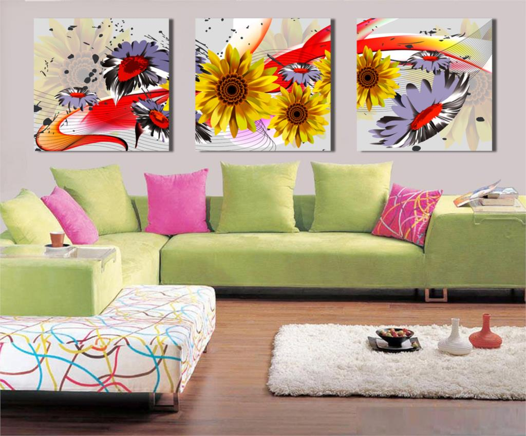 Panel Free Shipping Hot Modern Wall Painting Flower Home Wall Art