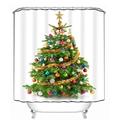 New 3D Shower Curtains Beautiful Christmas Tree Waterproof Washable Moistureproof Thickened Curtain Bathroom 12 C Type
