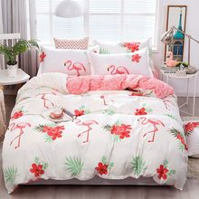 Solstice High Quality Autumn maple leaf style Comforter Bedding Sets Duvet Cover Flat bed Sheet Bed Cover Linens Bedclothes(China)