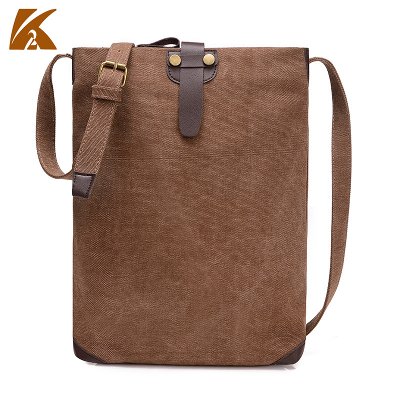 The New Women's Singles All-Match Canvas Shoulder Messenger Male Student Bag Cloth Simple Retro Casual Handbags(China (Mainland))