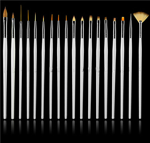 Nail Art 15PCS UV Gel Design Pen Painting Brush Set for Salon Manicure Tips Tool(China (Mainland))