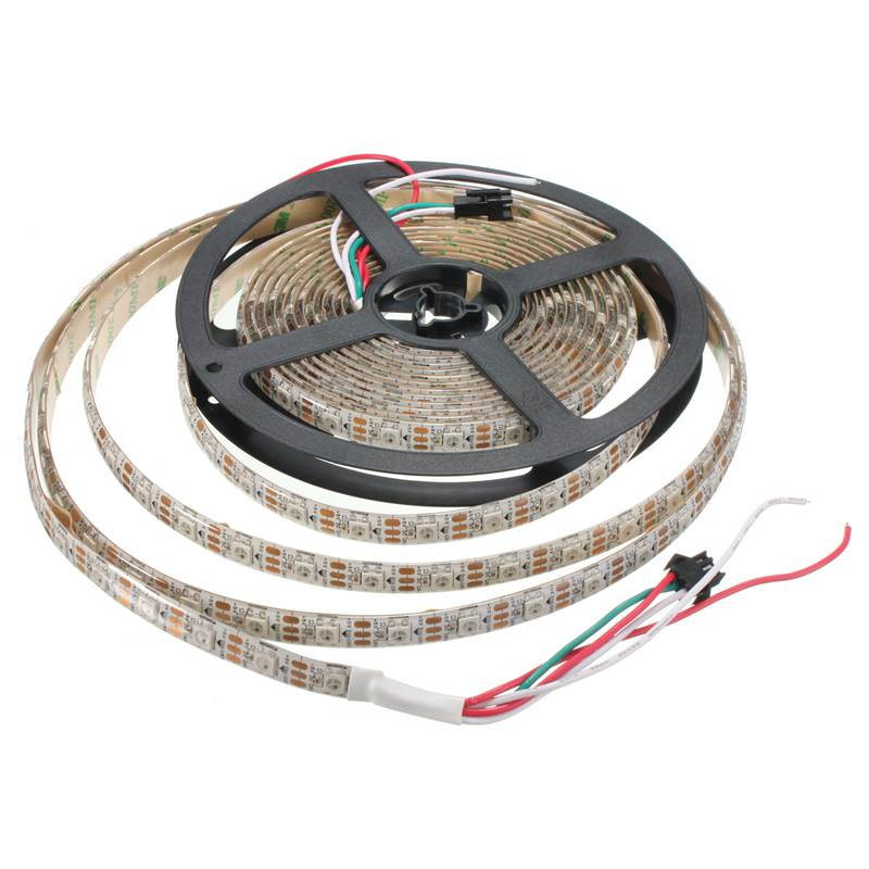 Excellent Quality WS2812B 5050 SMD RGB LED Strip Light Lamp 4M 240 Leds 72W Individual Addressable DC5V White Black(China (Mainland))