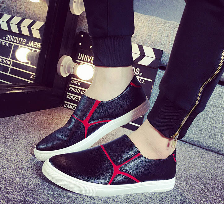Leather Slip-on Casual Shoes 2015 Fashion Low Spring Autumn Simple Loafers Chaussure Homme Tenis Men Whoes Zapatillas Deportivas