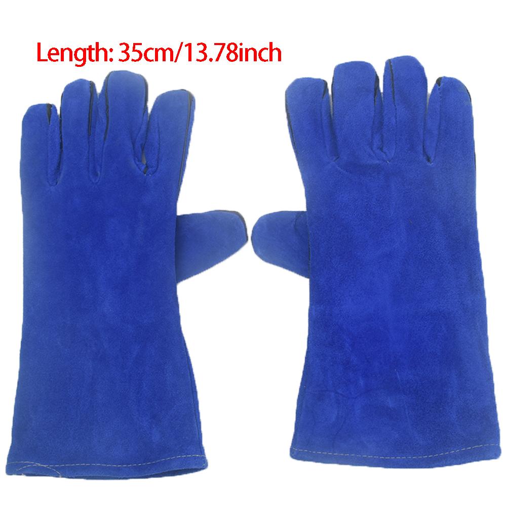 1 пара 35 см рукавицы износостойкая Рабочая плита сварочные перчатки кожаные aeProduct.getSubject()