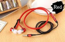 New Microphone Mic Earbuds Premium 3 5mm Tangle Free Zipper Earphones Headset mp3 waterproof bluetooth headphones