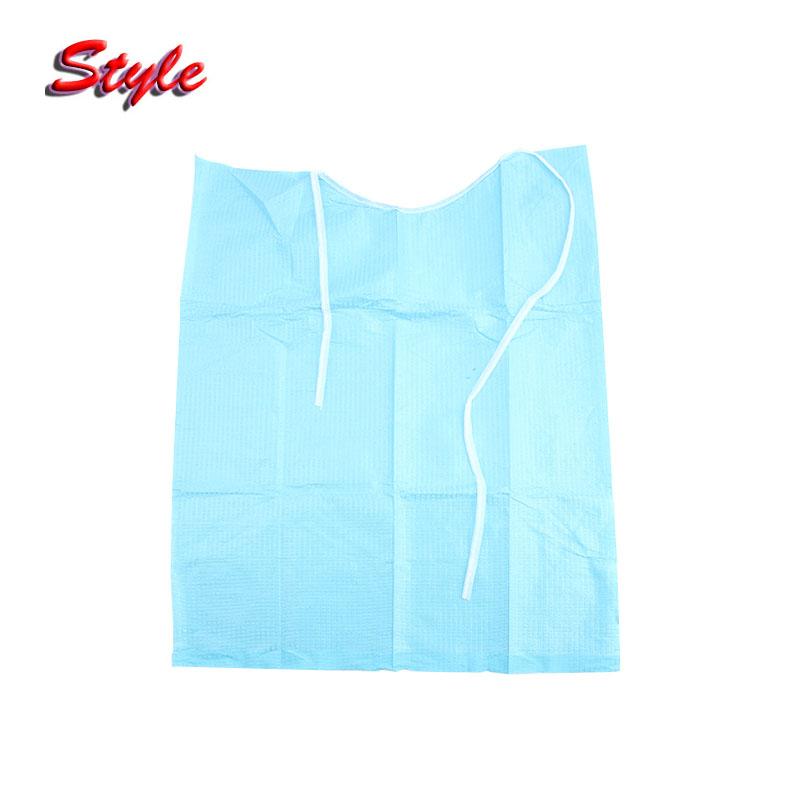 30pcs/bag Disposable Blue color neckerchief medical shop towels lacing bibs sputa pad dental materials consumables