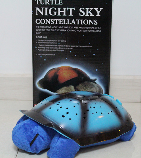 30pcs 4 Colors sleep Night Sky projection lamp children plush toys music turtle light Light Stars Constellation Lamp No USB line(China (Mainland))
