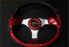 13 inch car steering wheel,imitation racing wheel,Modified steering wheel,More controlled,add fun to your driving,free shipping(China (Mainland))
