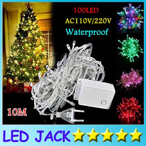 10M 33FT 100led Fairyled holiday Led String Light Christmas light waterproof Wedding Party Xmas Decoration White Red Blue Green<br><br>Aliexpress