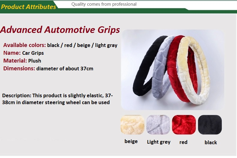 Winter warm car steering wheel covers short nap set plush auto supplies - Find Something Here store