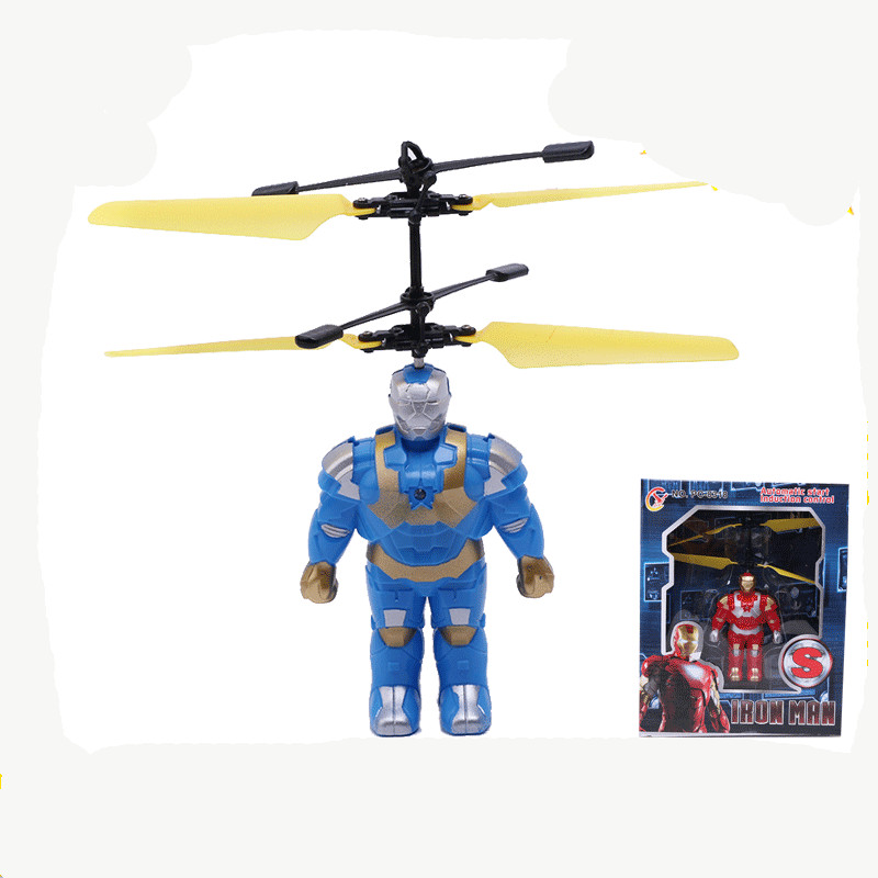 fun kids Toys! Iron Man Minions RC Helicopter Resistant Remote Control Aircraft New Style Kids Toys Children Aircraft(China (Mainland))