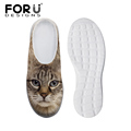 Brand Design Women s Sandals Cute Cat Owl Pattern Casual Platform Clogs Sandals Mesh Flats Beach