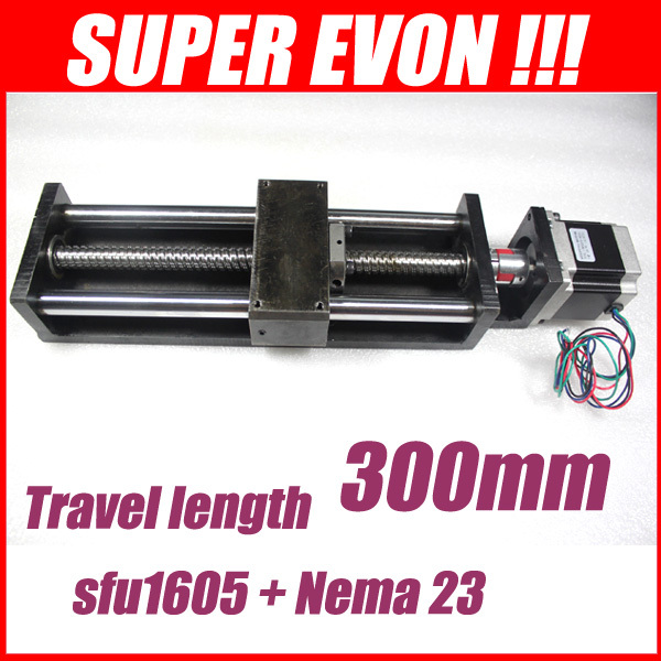 linear rails effective stroke 300mm cnc guide rail 16mm linear motion system  3A 23 nama stepper motor 3050181A(China (Mainland))
