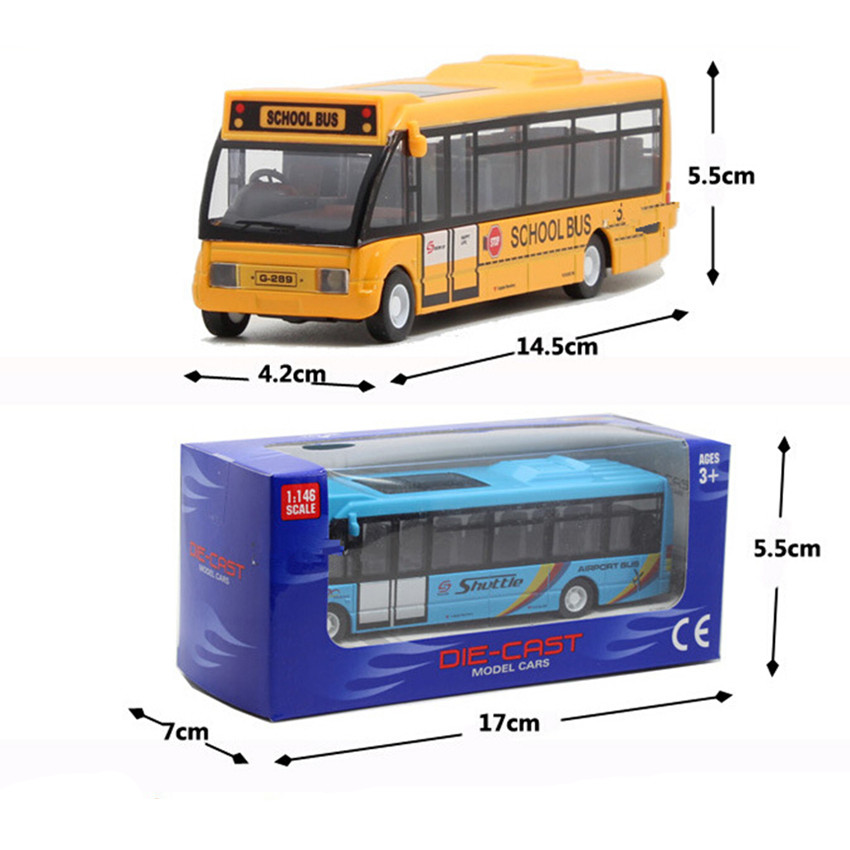 New Style School Bus Car Model Toys for Children's Birthday Gift, 3 Color City Bus Kids Toys(China (Mainland))