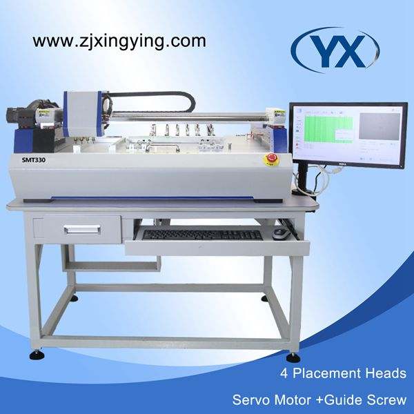 4 Heads SMT330 Pick and Place Machine Automatic Recognize Fiducial Mark Used SMT Machine Solder Paste Printer(China (Mainland))