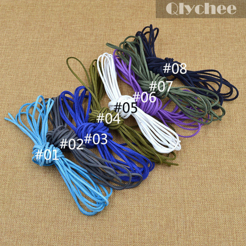 5 Meters Colorful Jewelry Findings Faux Flat Suede Leather Cord Lace Rope Necklace Bracelet Jewelry Handmade Accessories(China (Mainland))